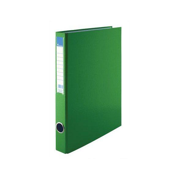 Gyűrűs dosszié, 4 gyűrű, 35 mm, A4, PP/karton, VICTORIA, zöld