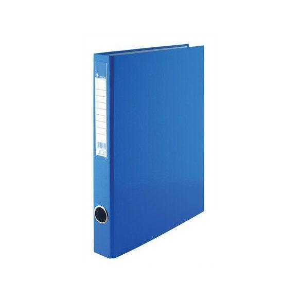 Gyűrűs dosszié, 4 gyűrű, 35 mm, A4, PP/karton, VICTORIA, kék