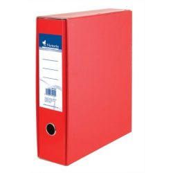 Tokos iratrendező, 75 mm, A4, karton, VICTORIA, piros