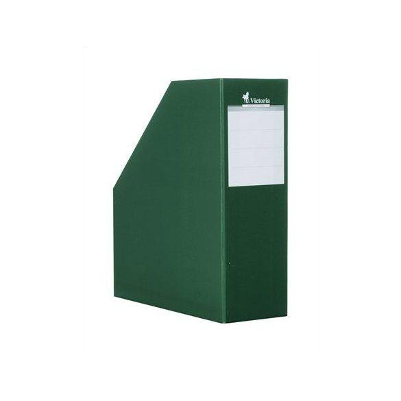 Iratpapucs, karton, 90 mm, VICTORIA, zöld