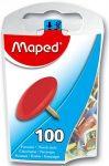 Rajzszeg, 100 db-os, MAPED, színes
