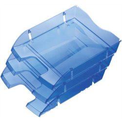 """Irattálca, műanyag, törhetetlen, HELIT """"Nestable Green Logic"""", áttetsző kék"""