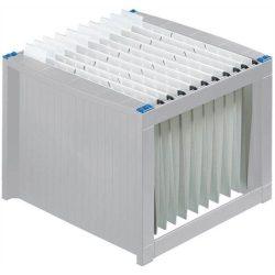 Függőmappa tároló, műanyag, HELIT, világosszürke-kék