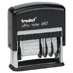 """Bélyegző, dátum és szöveg, 12 féle szöveggel, TRODAT """"4817"""""""