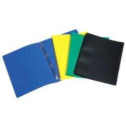 """Gyűrűs dosszié, 2 gyűrű, 20 mm, A4, PP, VIQUEL """"Standard"""", kék"""