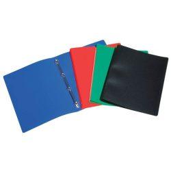 """Gyűrűs dosszié, 4 gyűrű, 20 mm, A4, PP, VIQUEL """"Standard"""", kék"""