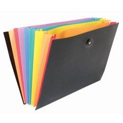 """Harmonika mappa, PP, 8 részes, VIQUEL """"RainbowClass"""", fekete"""