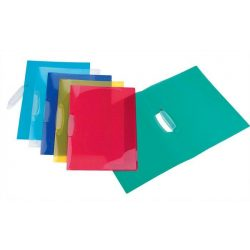 """Gyorsfűző, klippes, PP, A4, VIQUEL """"Propyglass V-Clip"""", vegyes színek"""