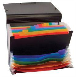 """Harmonika mappa, PP, 12+6 részes, VIQUEL """"RainbowClass"""", fekete"""