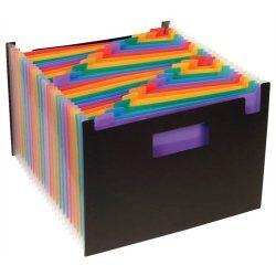"""Harmonika mappa, PP, 25 részes, VIQUEL """"RainbowClass"""", fekete"""