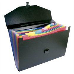 """Harmonika mappa, PP, 12 részes, VIQUEL """"RainbowClass"""", fekete"""