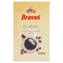 Kávé, pörkölt, őrölt, vákuumos csomagolásban, 1000 g,  BRAVOS Classic
