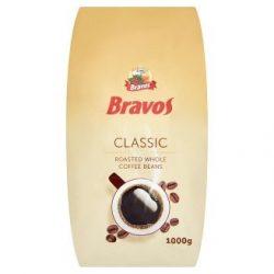 Kávé, pörkölt, szemes, vákuumos csomagolásban, 1000 g,  BRAVOS Classic