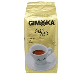 Kávé, pörkölt, szemes, vákuumos csomagolásban, 1000 g,  Gimoka Gran Festa arany