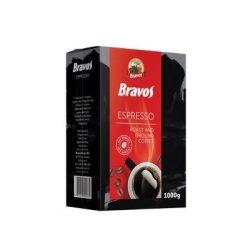 Kávé, pörkölt, őrölt, vákuumos csomagolásban, 1000 g,  BRAVOS Espresso