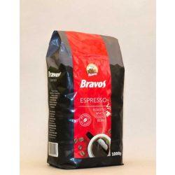 Kávé, pörkölt, szemes, vákuumos csomagolásban, 1000 g,  BRAVOS Espresso