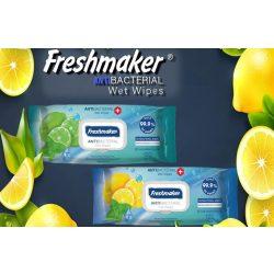 Freshmaker antibakteriális törlőkendő 120 db visszazárható tetővel