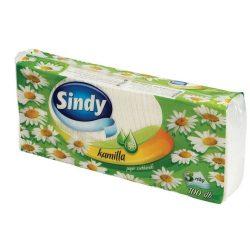 """Papír zsebkendő, 3 rétegű, 100 db, """"Sindy"""", kamilla"""