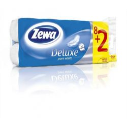 """Toalettpapír, 3 rétegű, 8 tekercses, ZEWA """"Deluxe, fehér"""