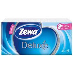 """Papír zsebkendő, 3 rétegű, 90 db, ZEWA """"Deluxe"""", illatmentes"""