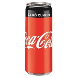 "Üdítőital, szénsavas, 0,33 l, dobozos, COCA COLA ""Coca Cola Zero"""