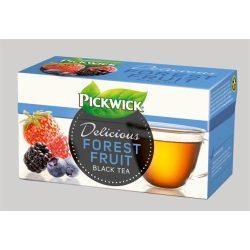 Fekete tea, 20x1,5 g, PICKWICK, erdei gyümölcs