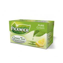 Zöld tea, 20x2 g, PICKWICK, citrom