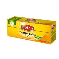 """Fekete tea, 25x2 g, LIPTON """"Yellow label"""""""