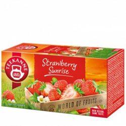"""Gyümölcstea 20x2,5 g, TEEKANNE """"Srawberry Sunrrise"""", eper"""