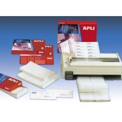 Etikett, mátrixnyomtatókhoz, 2 pályás, 88,9x36 mm, APLI, 8000 etikett/csomag