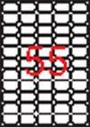 Etikett, univerzális, 36,8x23,8 mm, eltávolítható, kerekített sarkú, APLI, 5500 etikett/csomag