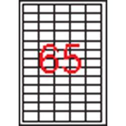 Etikett, univerzális, 38x21,2 mm, eltávolítható, kerekített sarkú, APLI, 6500 etikett/csomag