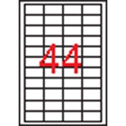 Etikett, univerzális, 48,5x25,4 mm, eltávolítható, kerekített sarkú, APLI, 4400 etikett/csomag