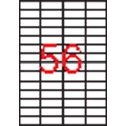 Etikett, univerzális, 52,5x21,2 mm, eltávolítható, kerekített sarkú, APLI, 5600 etikett/csomag