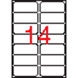 Etikett, 99,1x38,1 mm, poliészter, kerekített sarkú, APLI, átlátszó, 140 etikett/csomag