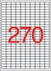 Etikett, univerzális, 17,8x10 mm, eltávolítható, kerekített sarkú, APLI, 6750 etikett/csomag