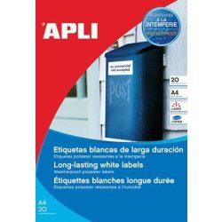 Etikett, 64,6x33,8 mm, poliészter, időjárásálló, APLI, 480 etikett/csomag