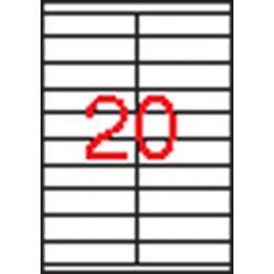 Etikett, univerzális, 105x29 mm, APLI, 2000 etikett/csomag