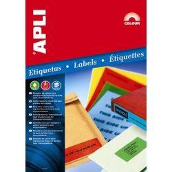 Etikett, 70x37 mm, színes, APLI, sárga, 480 etikett/csomag