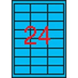 Etikett, 70x37 mm, színes, APLI, kék, 480 etikett/csomag