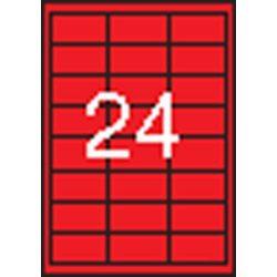 Etikett, 70x37 mm, színes, APLI, piros, 480 etikett/csomag