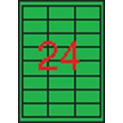 Etikett, 70x37 mm, színes, APLI, zöld, 480 etikett/csomag