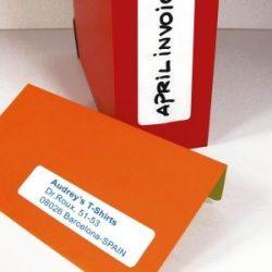 Etikett, 12x30 mm, kerekített sarkú, A5 hordozón, APLI, 990 etikett/csomag