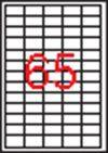 Etikett, univerzális, 38x21,2 mm, APLI, 6500 etikett/csomag