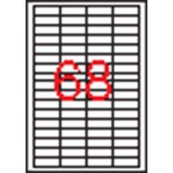 Etikett, univerzális, 48,5x16,9 mm, APLI, 6800 etikett/csomag