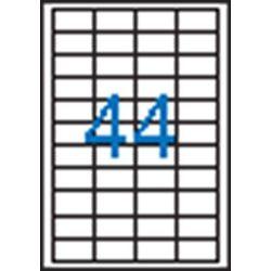 Etikett, univerzális, 48,5x25,4 mm, VICTORIA, 4400 etikett/csomag