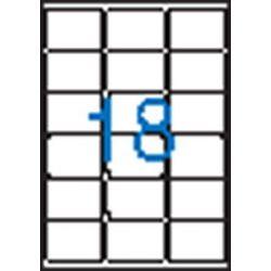 Etikett, univerzális, 63,5x46,6 mm, VICTORIA, 1800 etikett/csomag