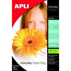 """Fotópapír, tintasugaras, 10x15 cm, 180 g, fényes, APLI """"Everyday"""""""