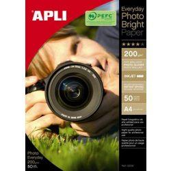 """Fotópapír, tintasugaras, A4, 200 g, fényes, APLI """"Everyday"""""""