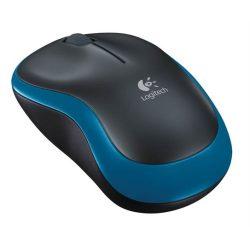 """Egér, vezeték nélküli, optikai, közepes méret, USB, LOGITECH """"M185"""", kék"""